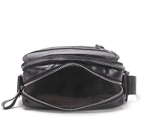 Black Per E A Borsa Messenger color Scuola Lavoro Uomo Waveni Tracolla In Vintage Pelle Black wSaqtH6AW