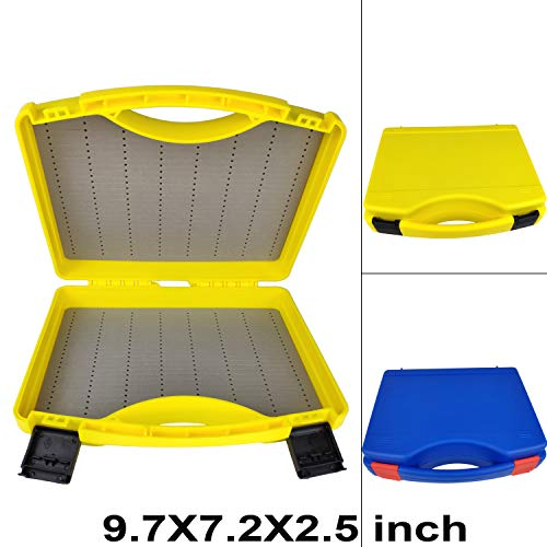 (Aventik Streamer Fly Box SF-I Click Lock Large Fly Box 9.5X7X2.5 inch/ 242X180X64mm Fly Fishing (Blue))