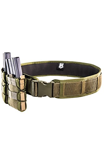 (High Speed Gear Laser Duty Grip Padded Belt (Olive Drab, XL (48