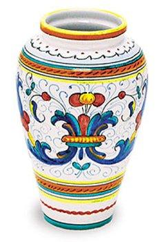Arte D'Italia Imports Hand Painted Ricco Vase - Handmade in ()