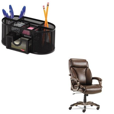 KITALEVN4159ROL1746466 - Value Kit - Best Veon Series Executive High-Back Leather Chair (ALEVN4159) and Rolodex Mesh Pencil Cup Organizer (ROL1746466) by Best