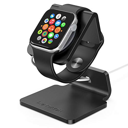 (Stand for Apple Watch, Lamicall Charging Stand : Desk Watch Stand Holder Charging Dock Station Designed for Apple Watch Series 4 Series 3 Series 2 Series 1 - Black)