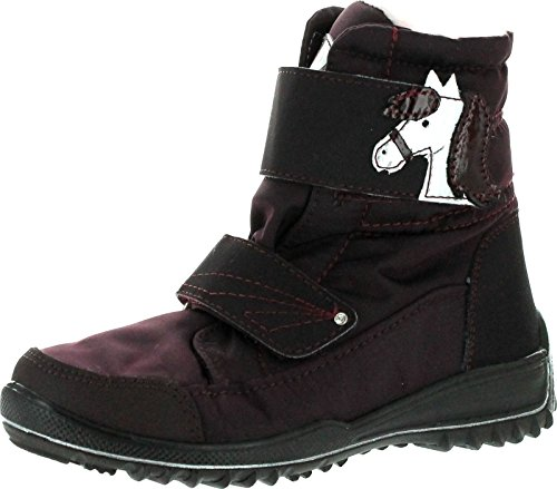 Ricosta Girls Garei Cute Pony Sympatex Waterproof Boots,Burgundy,29 ()