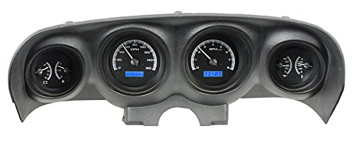Dakota Digital 69 70 Ford Mustang Analog Dash Gauge Black Alloy Blue VHX-69F-MUS-K-B