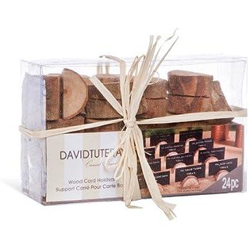 david tutera rustic wedding wood place card holders 24 pieces