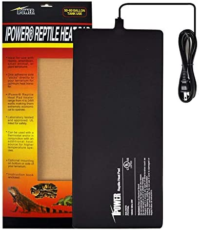 iPower Reptile Heat Pad Under Tank Terrarium Warmer Heat Mat for Small Animals
