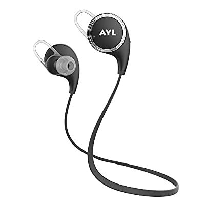 Bluetooth Headphones QY8 [Update QY7] AYL V4.1 Wireless Sport Headphones Stereo In-Ear Noise Cancelling Sweatproof Headphones with APT-X/Mic for iPhone 6 6 plus 5S 4S Galaxy S6 S5 and Android Phones