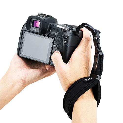 JJC DSLR Camera Hand Wrist Strap for Canon T7 T6 T5 T3 T7i T6i T6s SL3 SL2 7D 6D 5D 80D 60D 70D 77D EOS RP Nikon D3500 D3400 D3300 D7500 D7200 D5600 D5500 D5300 Sony A99 A77 ABS Quick Release Buckle