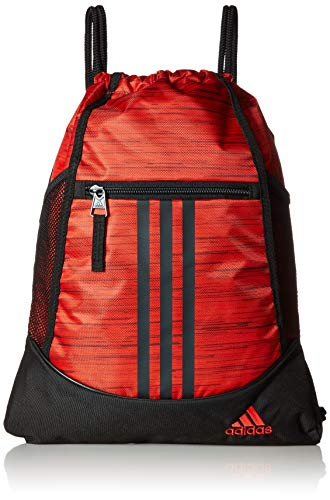 adidas Alliance II Sackpack, Active Red Looper/Black, One Size