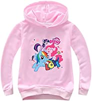 Marcoox Girls Comfy Pullover-My Little Pony Hoodies-Toddler Casual Hooded Sweatshirts with Long Sleeve