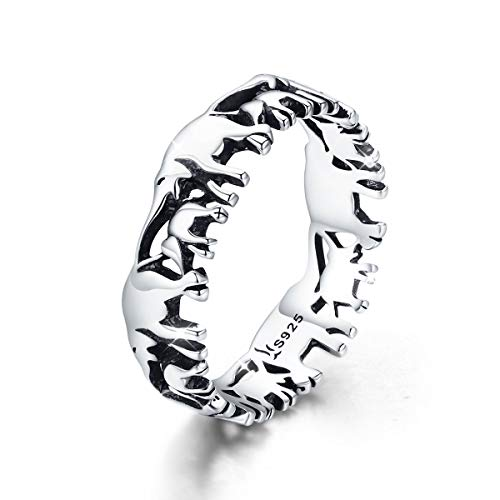 Mefusha Elephant Women Ring 925 Sterling Silver Stackable Animal Wedding Finger Rings for Girls