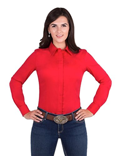 Mens Coolmax Show Shirt (Noble Outfitters Western Perfect Fit Show Shirt (Red, X-Small))