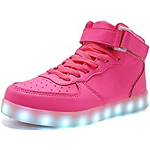 gongkunshop Christmas Kids Boy Girls Toddler/Little/Big Kids Men&Women's 11 Colors Led Light up Flashing Shoes Sneakers