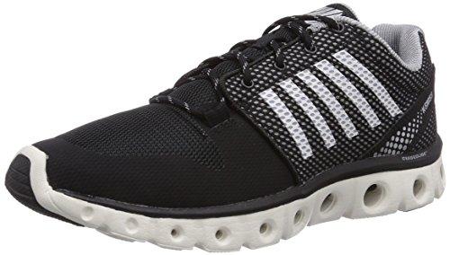 (K-Swiss Men's X Lite Lightweight Training Shoe, Black/Bright White/Griffin, 9 M US)