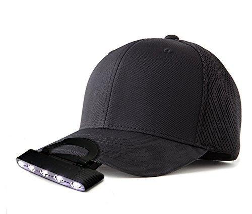 Oramics hoofdlamp 5 LED lichte lamp klemlamp voor kap/muts ideaal voor hobby wandelen camping handen vrij