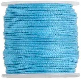 Spool of 25 meters 27.3 Yards. Waxed Cotton Cord Cord Turquoise 0.5mm