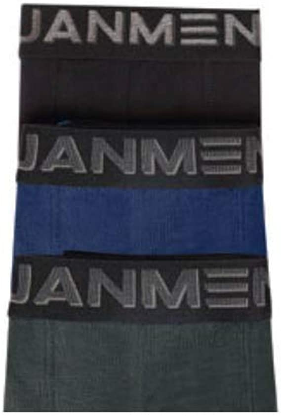 Jan Men Pack de 3 Slips Surtidos Supreme - Negro-Azul-Verde, M ...