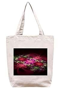 Flores–algodón Canvas Tote Bag
