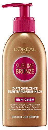 L'Oreal Paris Sublime Bronze Selbstbräunungsmilch, 1er Pack (1 x 150 ml)