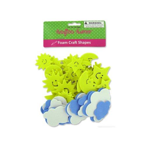 Sky Foam Craft Shapes 12/Pack (9 Pack)
