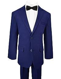 Black n Bianco Big Boys Tuxedo Suit w/Bow Tie and Vest