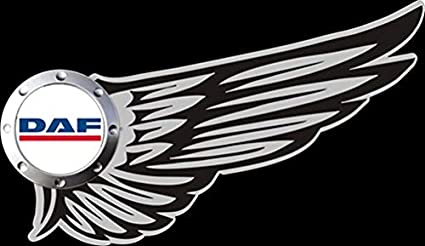 mmshop18 DAF LKW Wings Logo Car c086 Noir Unisex Casquette de Baseball
