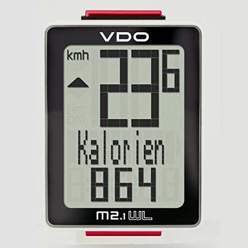 VDO M2.1 Bicycle Extra Durable Black & White Wireless Bike Cycling Computers (Vdo Bike Computer)