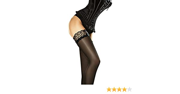 0758f8e4500f8 Fiore Women's Contessa Satin Gloss Opaque Thigh Highs at Amazon Women's  Clothing store:
