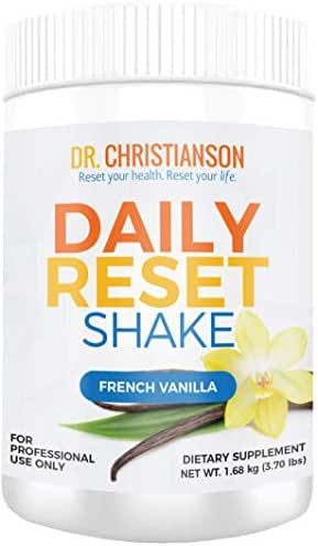 Dr. Christianson Daily Reset Shake, Vanilla Pea Protein Powder (28 Servings, 3.7 Pounds)