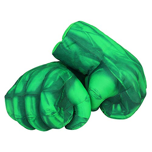 Yxaomite Hulk Gloves Hulk Smash Hands Fists Big Soft Plush Kids Boxing Training Gloves Superhero Cosplay Costume Games Toy for Children Birthday Christmas (1 Pair) -