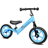 MammyGol Lightweight Balance Bike for Kids and Toddlers,12 Inch Classic No-Pedal Walking Bicycle w/Height Adjustable Seat and Handle,for Children Age 2-8