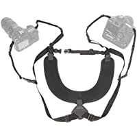 OP/TECH USA Dual Harness - X-Long, Interchangeable Camera Harness with Quick Disconnects and Control-Stretch Backing