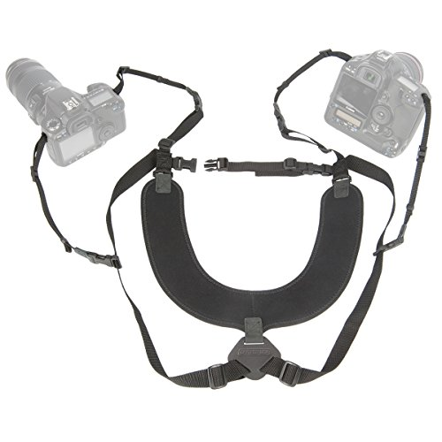 OP/TECH USA Dual Harness 3/8' Regular - Two-Camera Harness