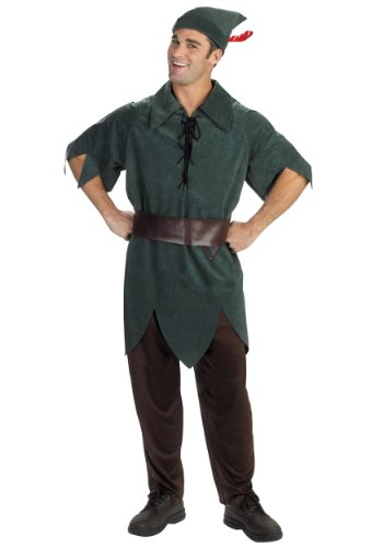 Disguise Mens Disney Peter Pan Theme Party Fancy Dress Costume, Standard (42-46) (Peter Pan Costume Men)