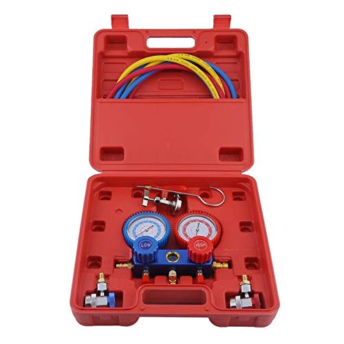 Alluminio manometro Servizio Indicatore diagnostico Set per R134a R12 R22 R502