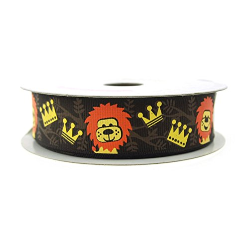 Banana Grosgrain Ribbon (Lion King Brown Grosgrain Ribbon, 7/8-Inch, 10 Yards)