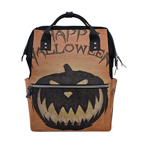 LORVIES Halloween Sign Diaper Bag Backpack, Large Capacity Muti-Function Travel Backpack -