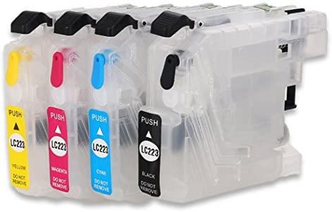 Cartucho de tinta recargable compatible para Brother LC223 LC221 LC225 tinta, trabajo con DCP-4120DW J562DW MFC-J4420DW J4620DW J4625DW J5320DW ...