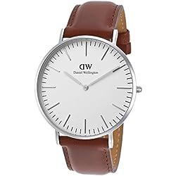 Daniel Wellington Men's Classic St. Mawes 0207DW Brown Leather Quartz Watch