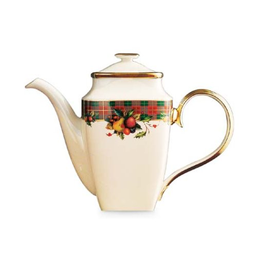 - Lenox Holiday Tartan Square Coffeepot