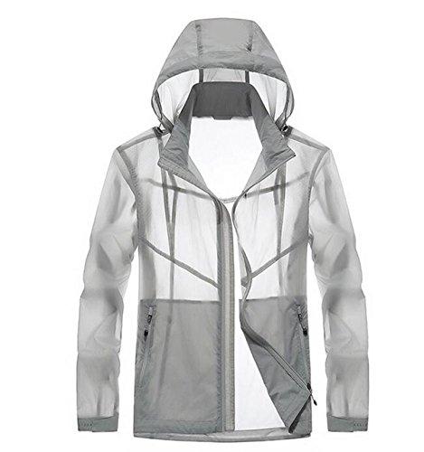 Giacca Essiccazione Outdoor Grey Pelle Contro Vento Maschile A Upf30 Sottile 4YqfT