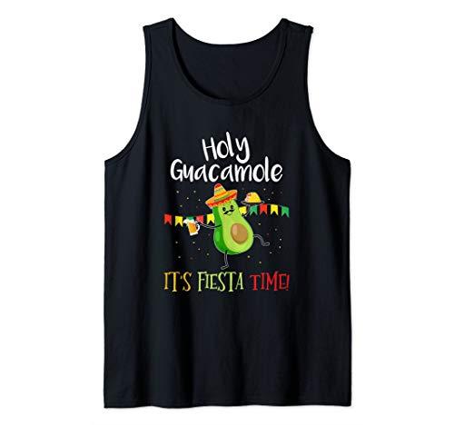 Holy Guacamole Its Mexican Fiesta Time Cinco de Mayo Party Tank Top]()