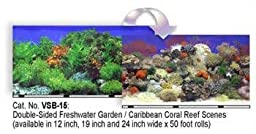 Blue Ribbon Pet Products ABLVSB1519 Decorative Reef Background for Aquarium, 19-Inch 50-Feet
