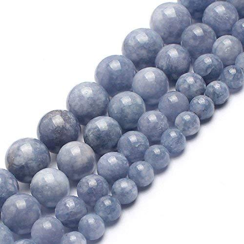 Love Beads Natural Angelite Stone Beads 8 mm Round Loose Gemstone -