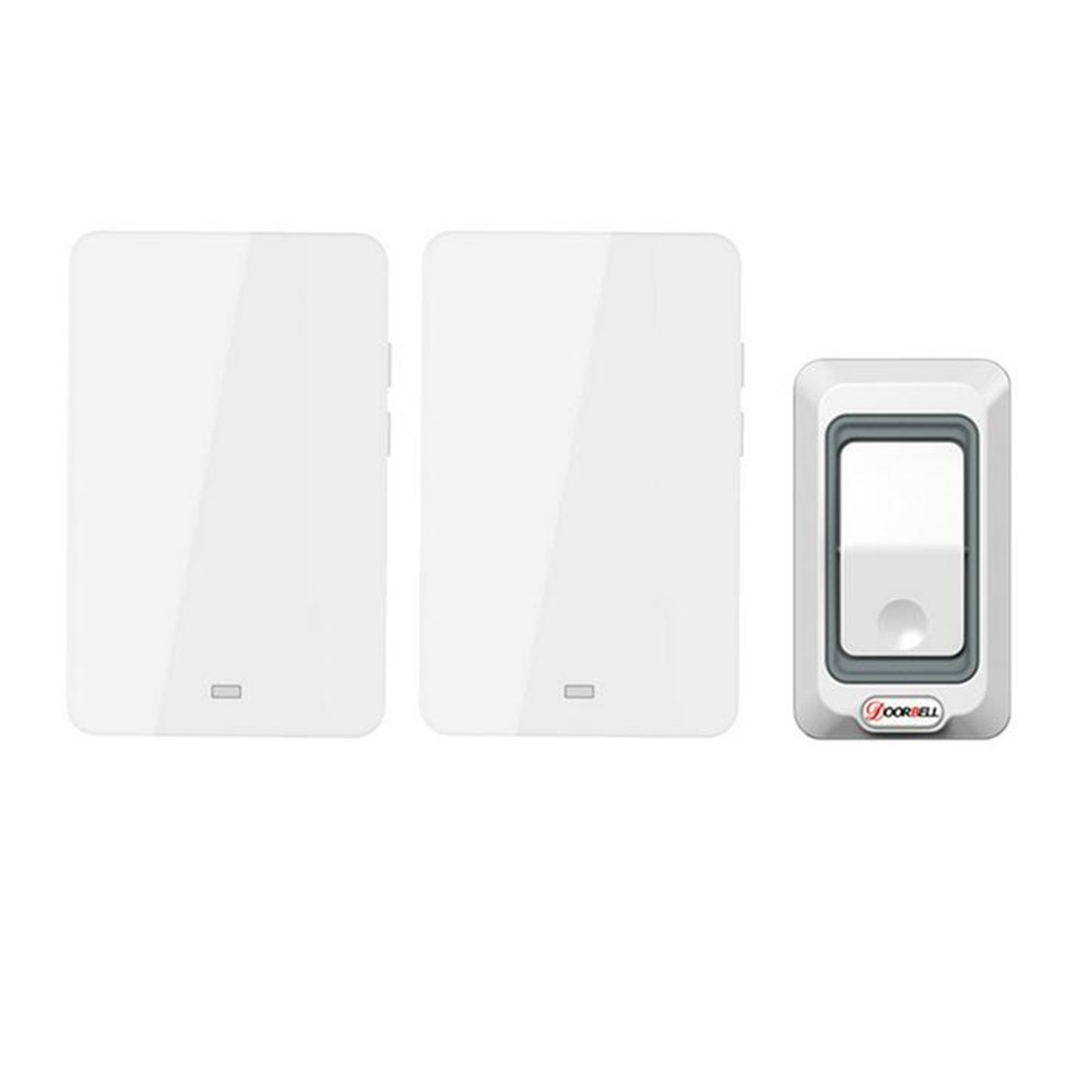 MIAO@LONG Wireless Door Bell With 28 Chimes 4-Level Adjustable Volume Work Over Range 492-Feet(150M) With LED Light Of Receiver,White by MIAO@LONG (Image #1)