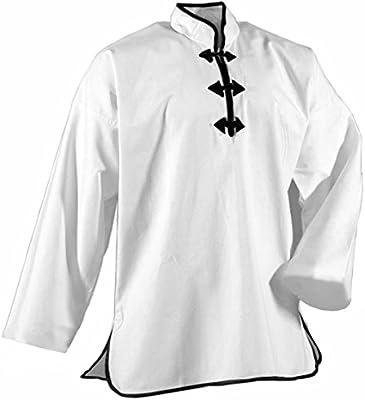 Double Y - Chaqueta kung-fu blanca 3 botones, blanco, 160: Amazon.es: Deportes y aire libre