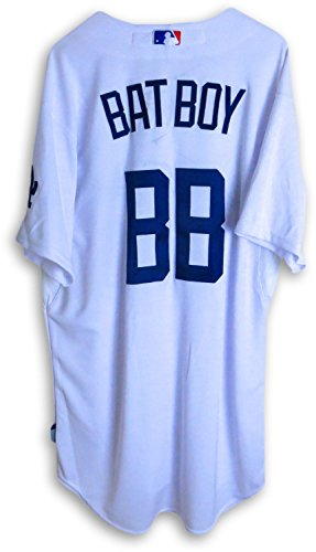 Bat Boy Team Issue Jersey LA Dodgers Official 2013 Home Whit