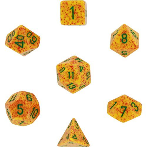 Chessex Dice: Polyhedral 7-Die Speckled Dice Set - Lotus