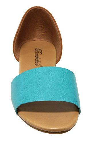 band Breckelles Womens dorsay single open Brigit 01 sandals toe back closed Aqua wwxHTf