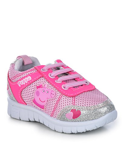 Pictures of Peppa Pig Kids Toddler Girls Silver and Pink 10 M US 1